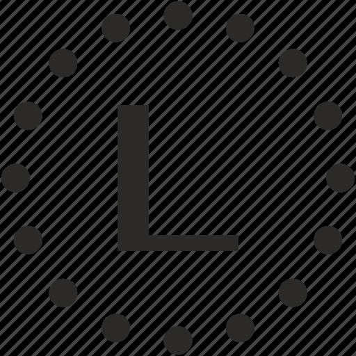 key, l, latin, letter icon
