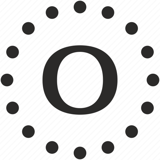 dots, key, latin, letter, o icon