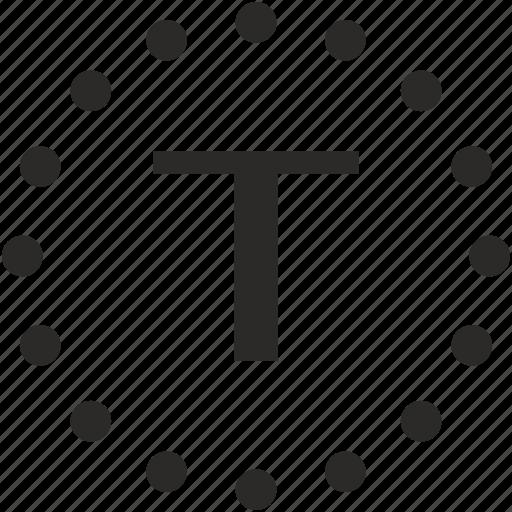 dots, key, latin, letter, t icon