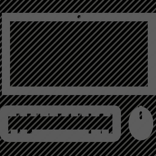 computer, keyboard, monitor, work icon