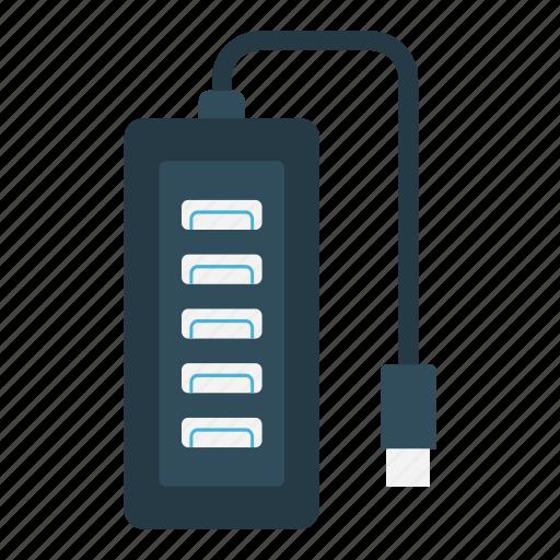 adapter, electric, electronics, machine, usb icon