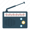 antenna, audio, music, radio, tape icon