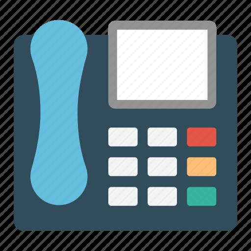 electronics, fax, landline, receiver, telephone icon