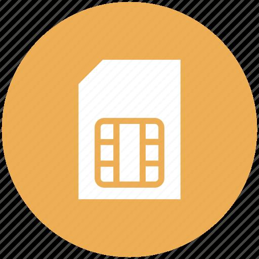 card, phone, sim, storage icon icon