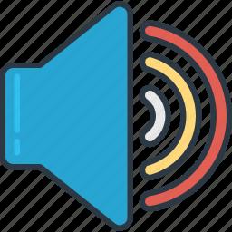 maximum, music, setting, volume icon