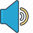 medium, music, setting, volume icon