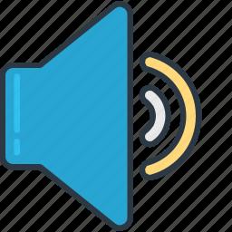 medium, music, setting, volume icon