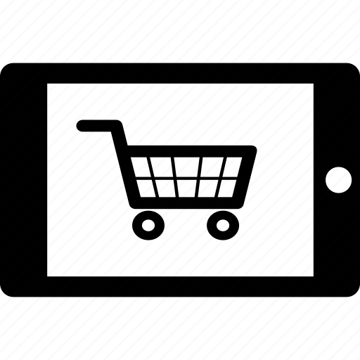 cart, ecommerce, mobile, shopping, tablet icon