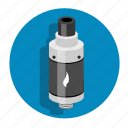 atomizer, clearomizer, drip tip, electronic cigarette, vaping icon