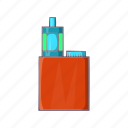cartoon, cigarette, electronic, nicotine, red, vapor, vaporizer icon