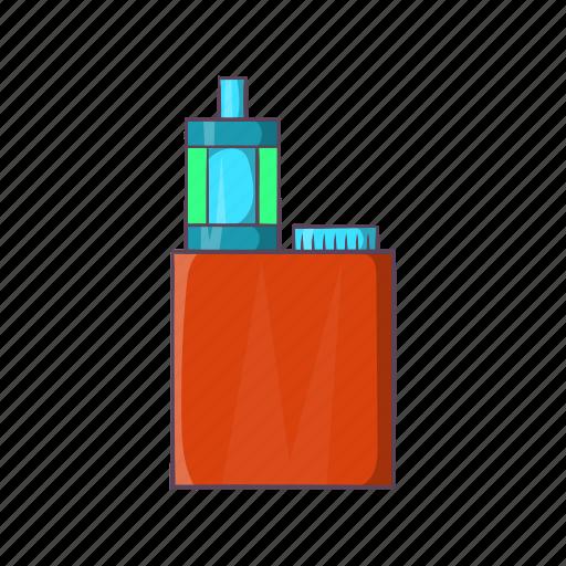 cartoon, cigarette, electronic, nicotine, red, vapor, vaporizer icon