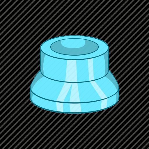 cap, cartoon, clean, container, lid, plastic, transparent icon