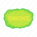 air, cartoon, cloud, effect, fog, gas, smoke icon
