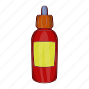batcher, cartoon, design, electronic, flavor, pipette, vape icon