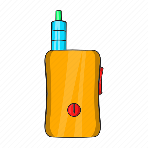 cartoon, cigarette, device, electronic, nicotine, vape, vaporizer icon