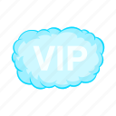cartoon, cloud, luxury, person, sign, smoke, vip icon