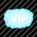 sign, person, vip, luxury, smoke, cartoon, cloud icon
