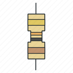 circuit, component, current, electronic, resistance, resistor icon