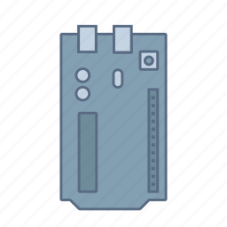 arduino, atmega, circuit, current, electronic, microcontroller, prototype icon