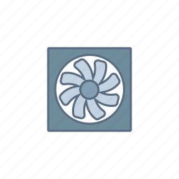 circuit, component, current, electronic, fan, motor icon