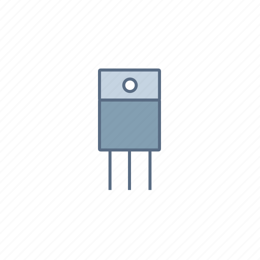 circuit, component, current, electronic, transistor icon