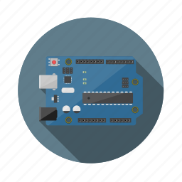arduino, circuit, current, electronic, microcontroller, power, technology icon