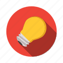 bright, bulb, circuit, currency, electricity, idea, light icon