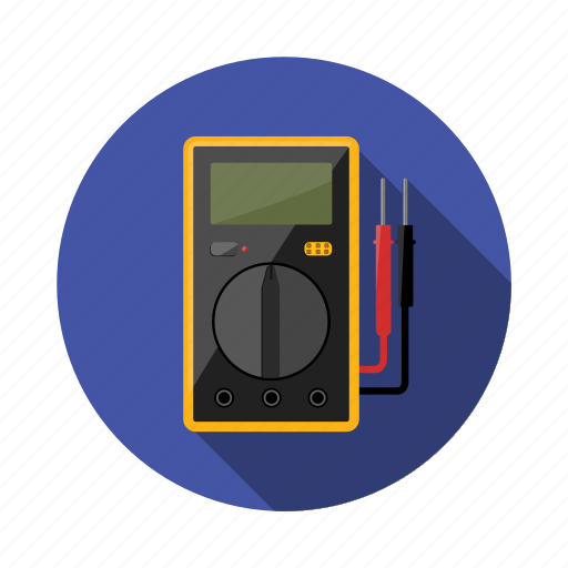 circuit, current, device, display, measure, multimeter, probe icon