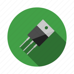 arduino, circuit, component, current, electronic, silicon, transistor icon