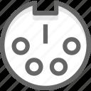datas, electronic, port icon