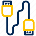 cable, port, usb cable icon