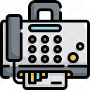 device, electronic, fax, gadget, mobile, printer icon