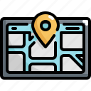 device, electronic, gadget, gps, location, map, navigation icon