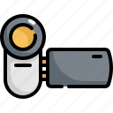 camera, device, electronic, gadget, multimedia, photo, video icon