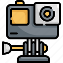 action, camera, device, electronic, gadget, photography, video icon