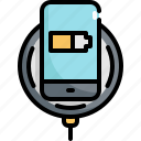 battery, charger, device, electronic, gadget, mobile, wireless icon