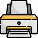 device, electronic, office, paper, print, printer, printing icon