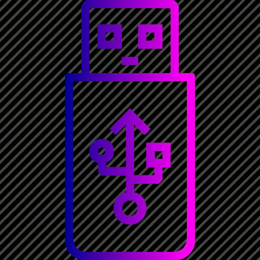 data, memory, pendrive, space, storage, transfer, usb icon