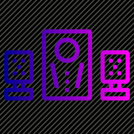 home, sound, speaker, system, theatre, woofer icon