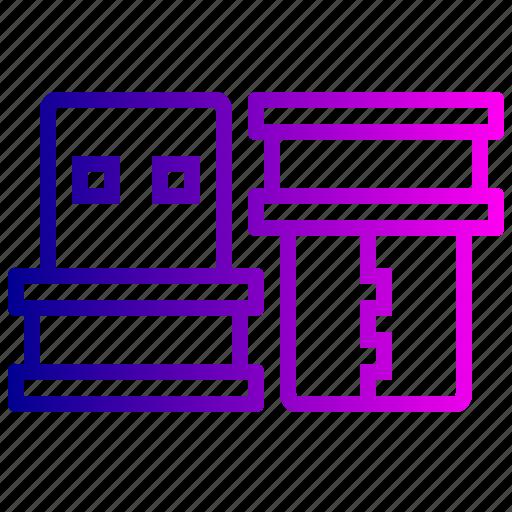bluetooth, communication, connection, reveiver, usb, wireless icon