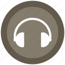 earphone, headphone, headset, listen icon