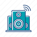 audio, electronic, music, play, sound, speaker, volume icon