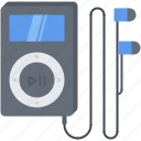 appliances, electronics, gadget, headphones, music, player, technology icon