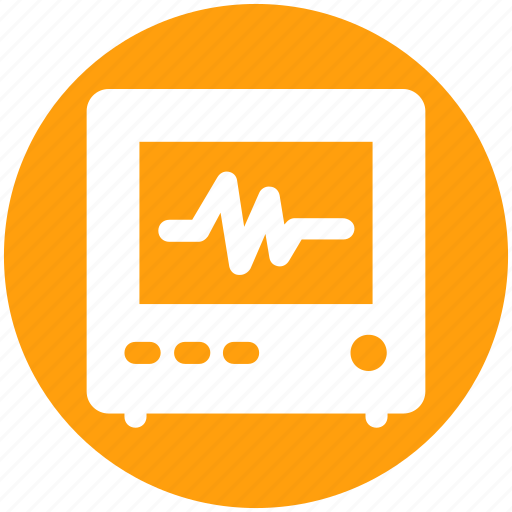 Ecg, ecg machine, electrocardiograph, heart checkup, heart rate machine icon - Download on Iconfinder