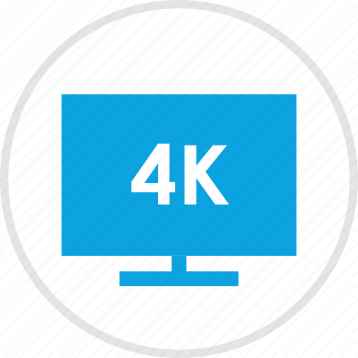 electronic, four, gadget, k, screen, tv icon