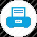 electronic, files, gadget, print, printer, send icon