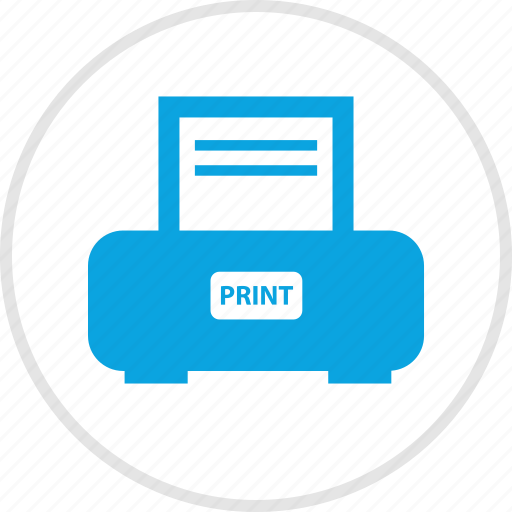 electronic, files, gadget, print, printer, send icon