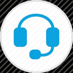 customer, electronic, gadget, headphones, service, speaker icon