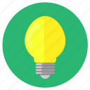 bulb, electronic, energy, light icon