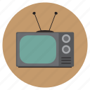 antenna, grey, old, screen, television, tv, vintage